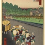 Shiba Shinmei Shrine and Zojoji Temple, No. 79 from One Hundred Famous Views of Edo