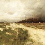 Coast Landscape, Dunes and Windmill