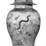 Jar with Cover, One of Pair