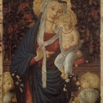 Virgin and Child with Two Angels Before a Rose Hedge