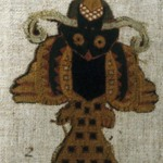 Textile fragment or Mantle, Field, fragment, mounted on modern fabric
