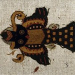 Textile Fragment Mounted on Modern Fabric, undetermined, or Mantle, Field, Fragment, Mounted on Modern Fabric
