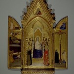 Triptych: Madonna with Saints and Christ Blessing (Center); The Nativity and the Annunciate Angel (Left Wing); Crucifixion and the Virgin Annunciate (Right Wing)