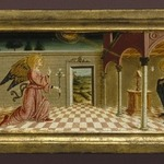 Predella with Annunciation and Scenes from the Lives of Four Saints