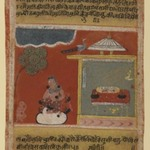 Radha Pining for Her Beloved, Page from a dated Rasikapriya Series