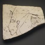 Figured Ostracon with Head of Akhenaten