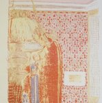 Interior with Pink Wallpaper I (Intérieur aux tentures roses I)