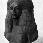 Head and Bust of Woman Wearing Elaborate Headdress