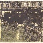 Street at Evening in the Rain (Rue le soir, sous la pluie)