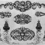 Ornamental Designs (nine on one plate)