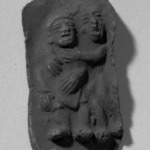 Cast of Mold of Two Figures Embracing Each Other