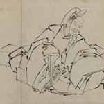 Drawing of Seated Nobleman in Full Costume
