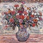 Flowers in a Vase (Zinnias)
