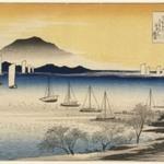 Returning Sails at Yabase (Yabase no Kihan), from Eight Views of the Province Omi (Omi Hakkei)