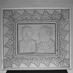 Tray or Plaque (Benjamin Harrison &amp; Levi Morton)