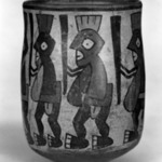 Jar with Painted Figures of Insects Carrying Staffs