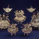 One of a Collection of Briscada Angels and Doll Heads with Wings