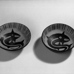 Pair of Dishes with Rounded Bottoms and Somewhat Straight Sides