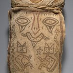 False Head for Burial Bundle or Mummy Mask