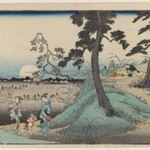 Enjoying the Insect at Dokanzana in Moon Night (From Toto  Meisho Series or View of Edo Series)