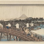 Evening Shower at Nihonbashi Bridge, from Celebrated Places in the Eastern Capital (Toto Meisho)