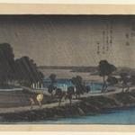 Azumi no Mori Yau, Evening Rain at Azumi no Mori