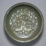 Platter (Tabaq) Depicting Cranes