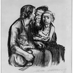 Two Chatting Women with Two Children (Zwei schwatzende Frauen mit zwei Kindern)