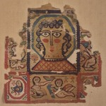 Textile of Haloed Head of a Woman