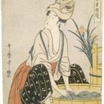 Washing Clothes (Sentaku), from Womens Handicrafts: Models of Dexterity (Fujin Tewaza Ayatsuri Kagami)