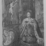 Queen Kneeling Before Cross