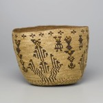 Imbricated Basket with Geometric Figures