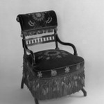 Armchair, Aesthetic Movement style with Moorish style embroidery(Rockefeller Room)