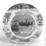 Plate Depicting Washington Crossing the Delaware