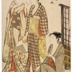 "Two Women Standing, from series ""Tosai Yuri Bijin Awase"""