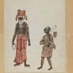 One of Set of Nine Watercolors showing Indians in Different Professions