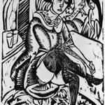 Woman, Tying Shoe (Frau Schuh zuknöpfend)