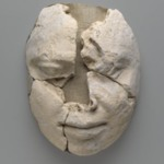 Mummy Mask of a Man Consisting of the Face Only