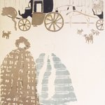 Nannies Promenade, Frieze of Carriages (La Promenade des nourrices, frise de fiacres), detail of second panel