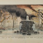 View of the Great Conflagration at New York from Bowling Green