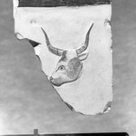 Rectangular Fragment with Head of Bull