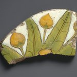 Tile Fragment with Mandragora Fruit and Leaves