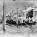 Venetian Scene (Four Gondolas)