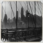 New York Harbor, View of Lower Manhattan from Brooklyn Bridge, October 1946