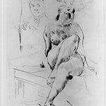 Female Nude Crouching on a Table (Auf einem Tische kauernder weiblicher Akt)