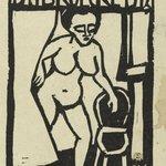 """Title Page Woodcut for the Annual Report 1911-1912 of the Artists Group """"Brücke"""" (Titelholzschnitt zum Jahresbericht 1911-1912 der Künstlergruppe """"Brücke"""")"""