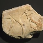 Fragment of a Relief Showing the Birth of a Calf