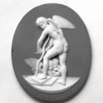 Medallion, Cupid Shaving His Bow