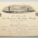 Invitation to the Opening of the Brooklyn Bridge