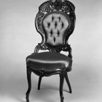 Side chair (one of a set of three) (Rococo Revival style)